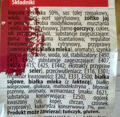 Sałatka z szynką - Składniki - pl