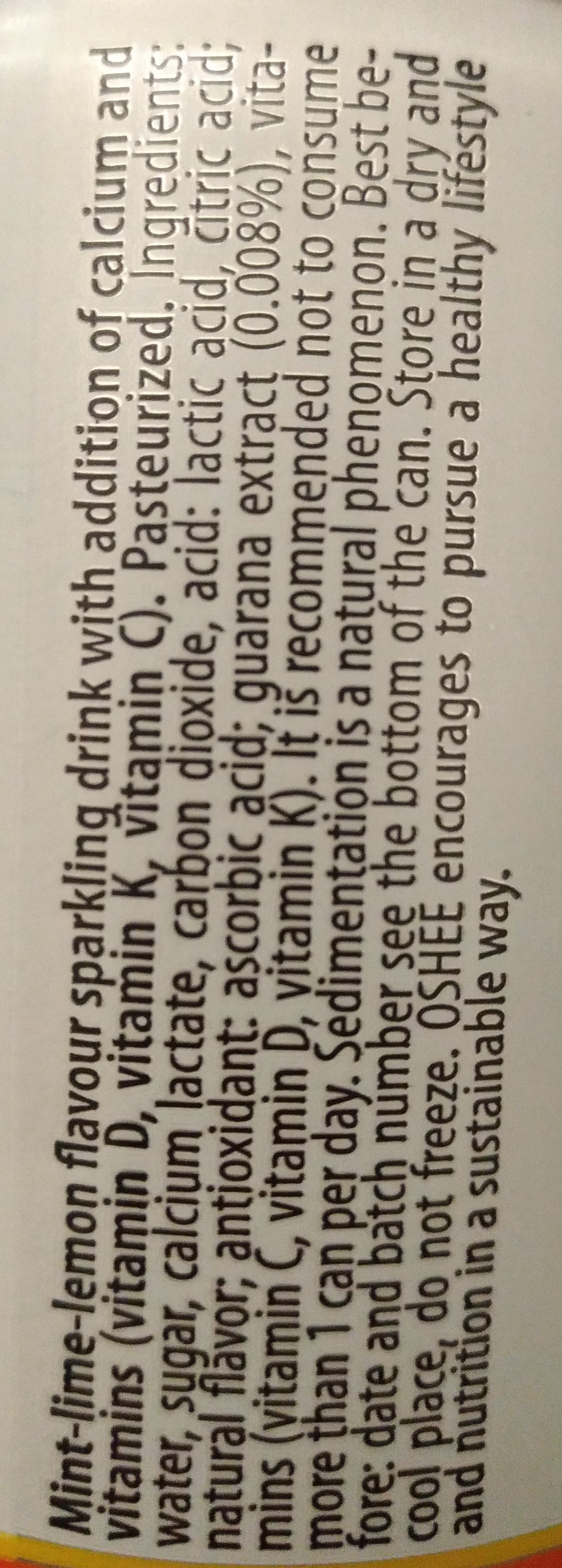 Oshee vitamin - Składniki - en