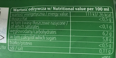 Aloe Vera - Informations nutritionnelles