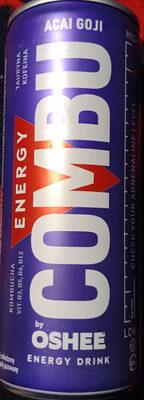 Gazowany napój energetyczny o smaku jagód acai-goji z dodatkiem witamin, kofeiny, tauryny, kombuchy. - Produkt - pl