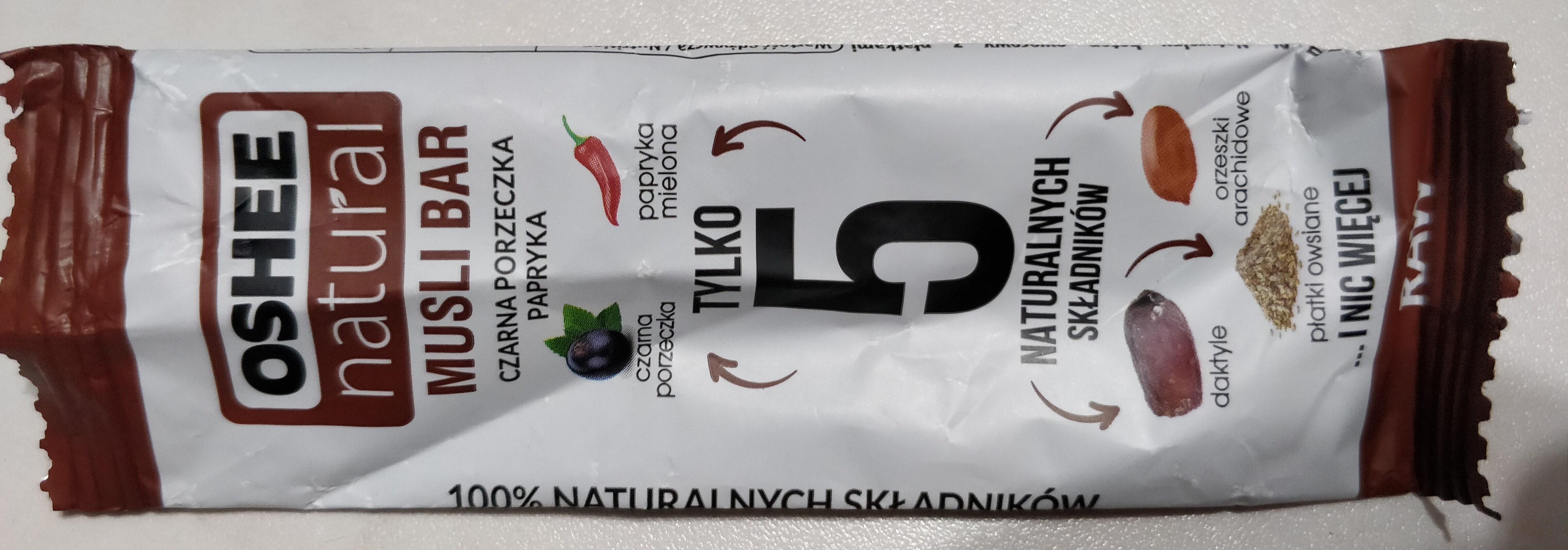Musli Bar czarna porzeczka papryka - Produit - pl
