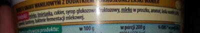 Serek o smaku waniliowym - Składniki - pl