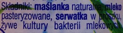 Maślanka - Składniki - pl