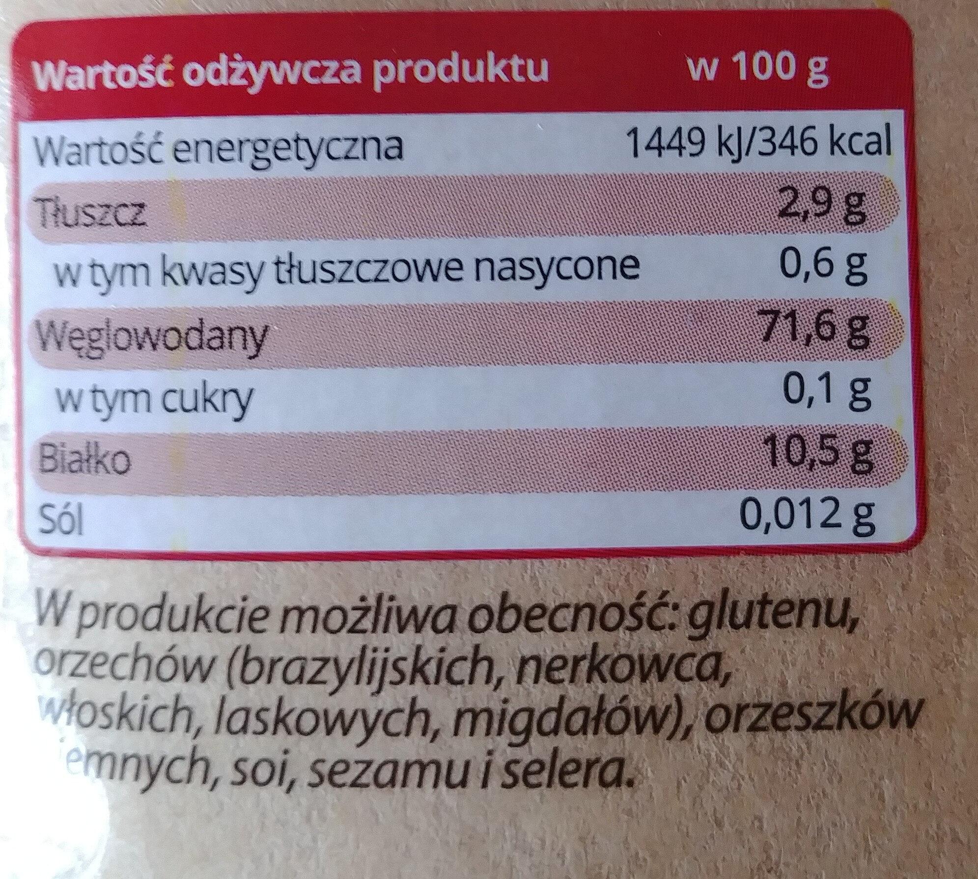 Kasza jaglana - Wartości odżywcze - pl