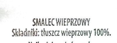 Smalec wieprzowy - Składniki - pl