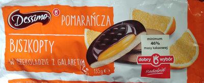 Biszkopty z galaretką o smaku pomarańczowym w czekoladzie - Produkt - pl