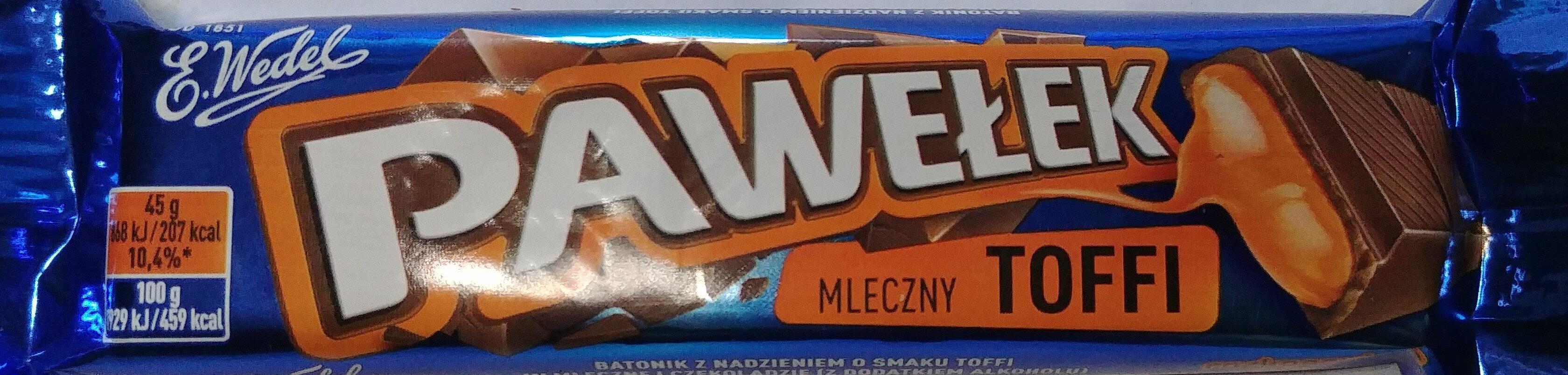 Batonik z nadzieniem o smaku toffi w mlecznej czekoladzie 2,3%. - Product