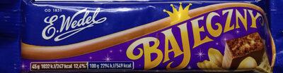Baton orzechowy arachidowy z dodatkiem wafelków 46% w mlecznej czekoladzie. - Produkt