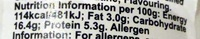 danio smak waniliowy - Voedigswaarden