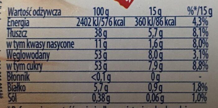Karmel Love!,Krem Wedlowski - Nutrition facts - pl