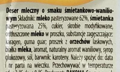 Deser Mleczny - Składniki - pl