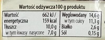 Deser Mleczny - Wartości odżywcze - pl