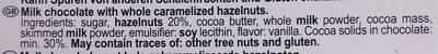 Milk & Hazelnuts - Ingredients - en