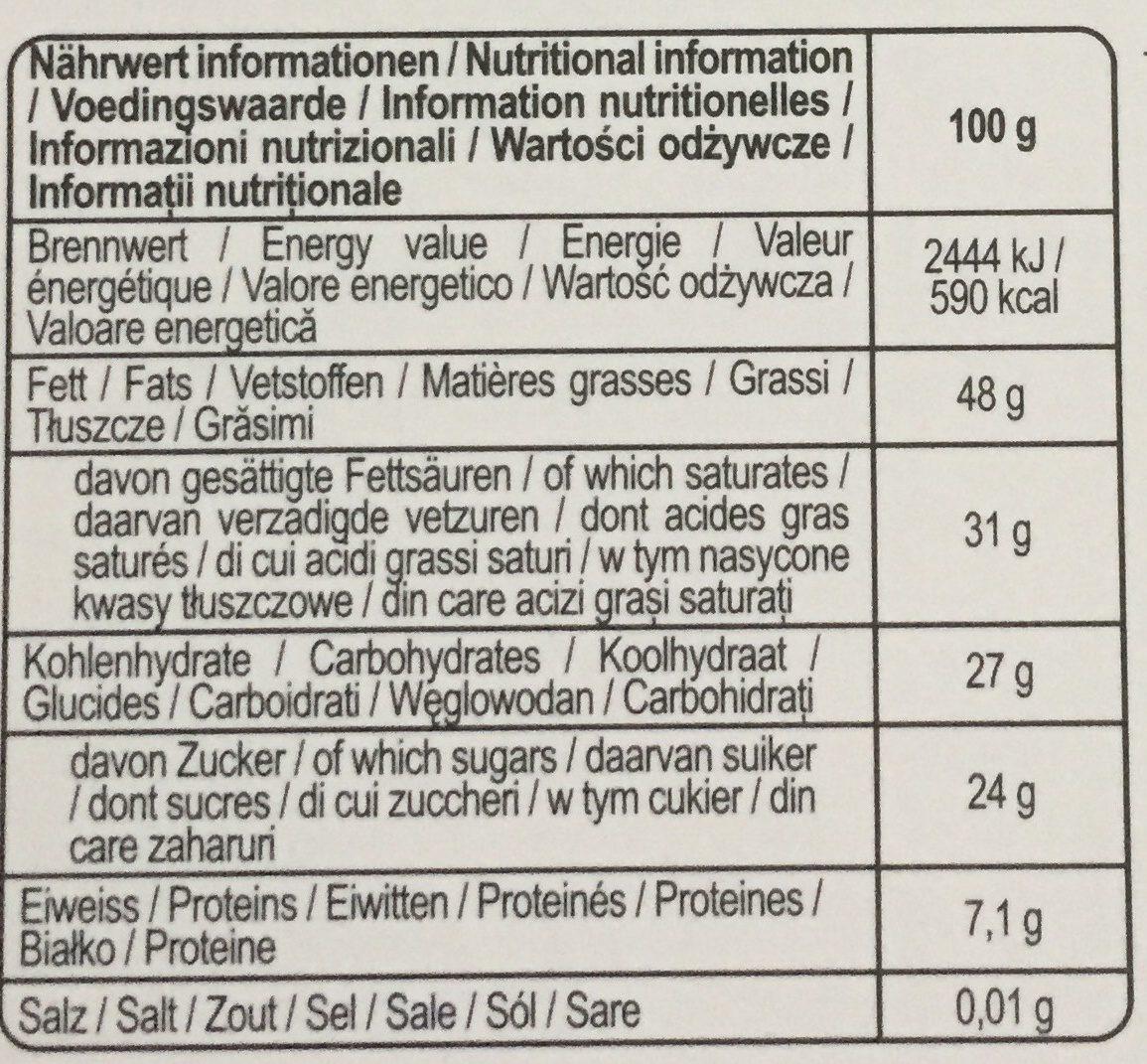 Heidi Chocolate Dark Intense 75 Percent (pack Of 2) - Wartości odżywcze - fr
