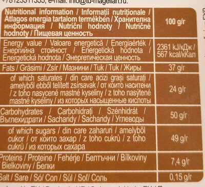 Grand'or Walnuts - Nutrition facts