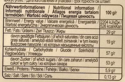 Gingerbread - Nutrition facts - hu