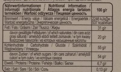 Heidi WinterVemture - Informations nutritionnelles - hu