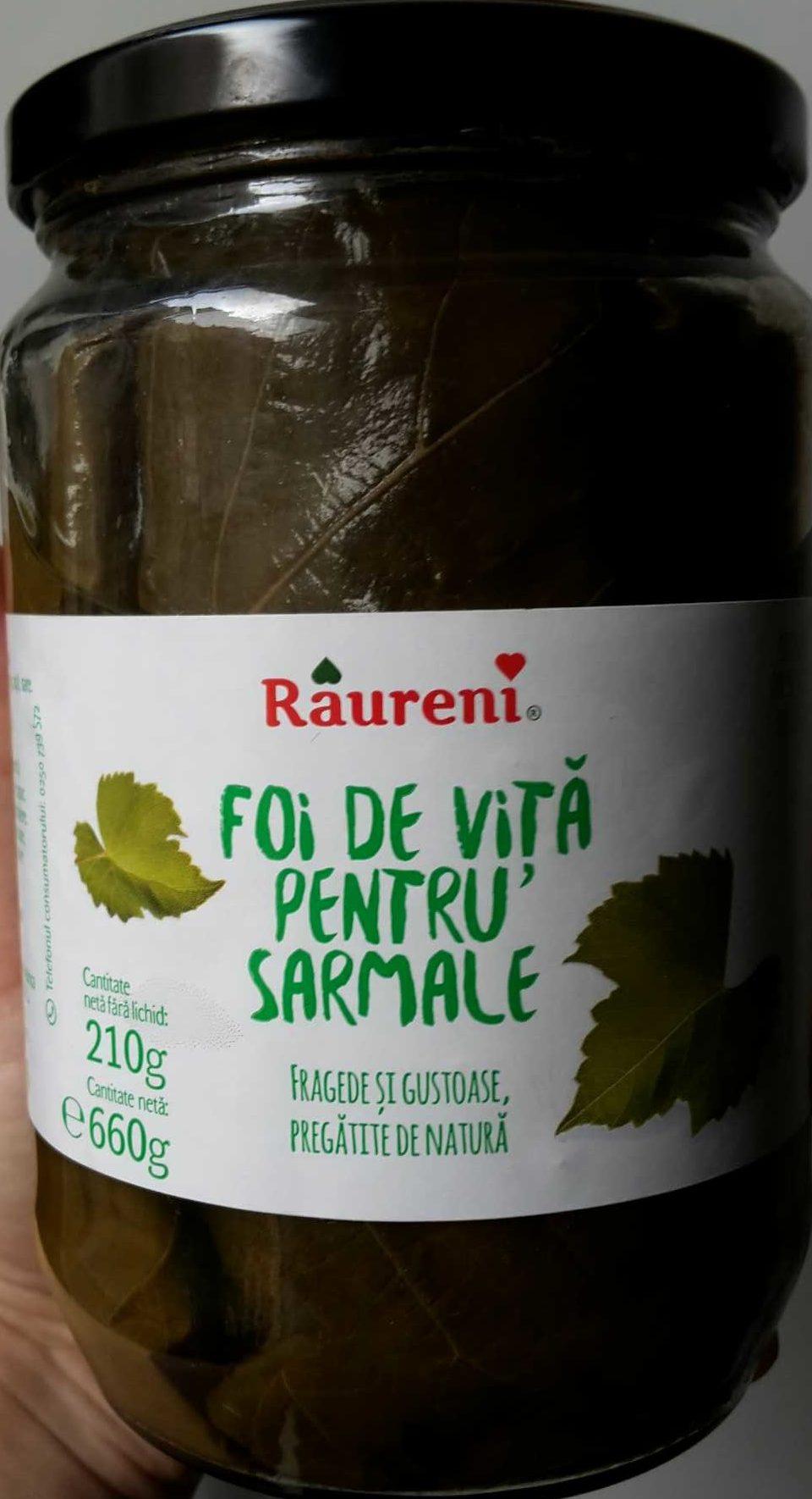 Foi de viță pentru sarmale - Produit - fr