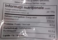 Biscuiții casei - Nutrition facts