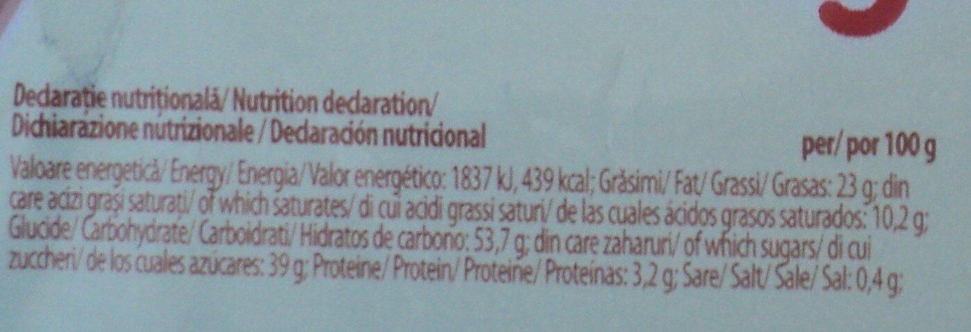Prăjitură cu cremă de cacao și glazură de cacao - Nutrition facts