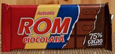 Autentic ROM Ciocolată 75% Cacao - Product