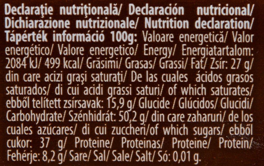 Autentic ROM Ciocolată 75% Cacao - Nutrition facts