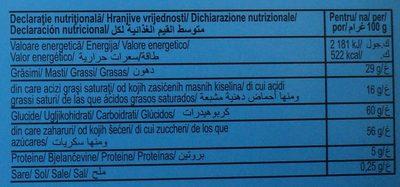 Praline de ciocolată albă - Informations nutritionnelles