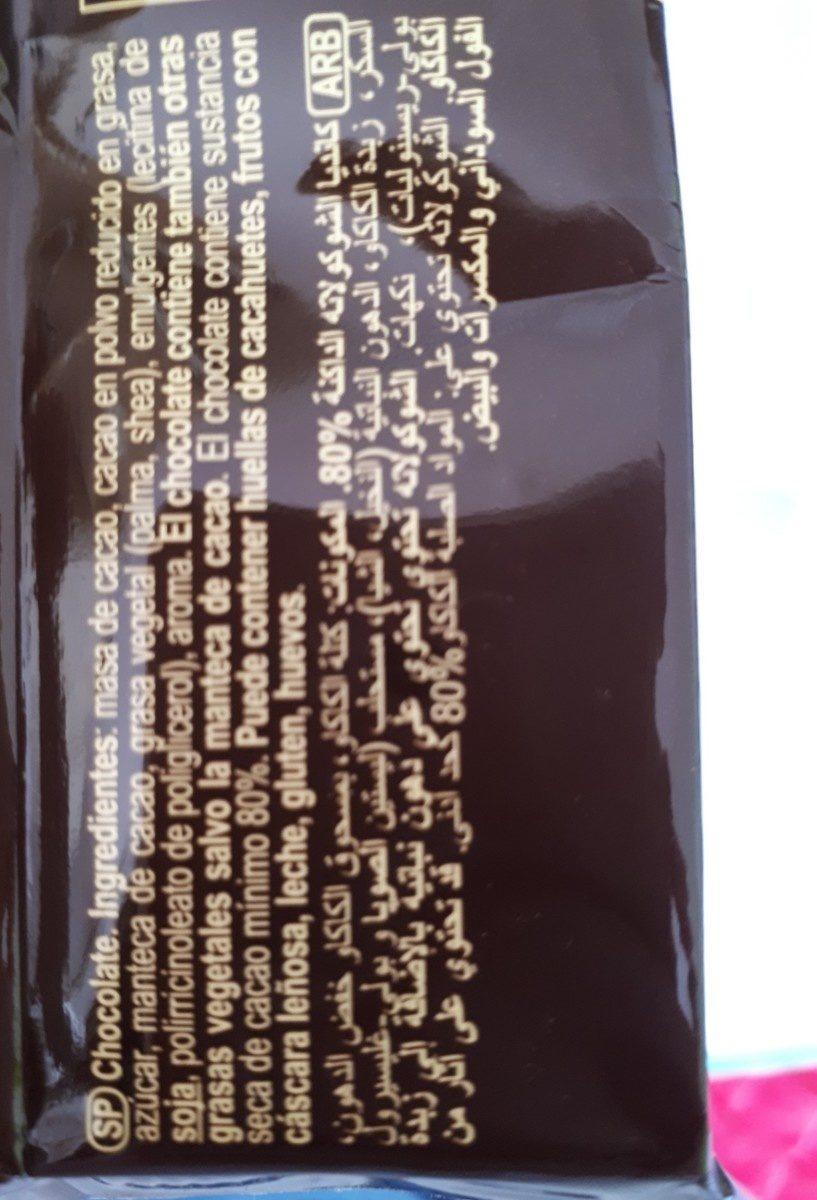 chocolata amaruie 80%cacao - Ingrédients - fr