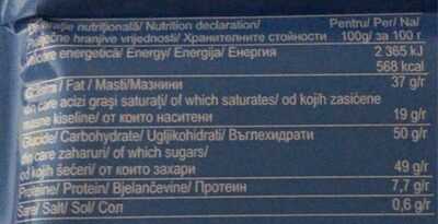 Primoda - Nutrition facts - fr