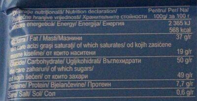 Primoda - Nutrition facts - fr