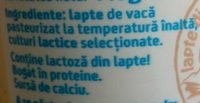 Napolact Iaurt numa' bun - Ingredients - ro