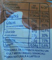 Mic-vis Brânzică glazurată cu cacao - Nutrition facts
