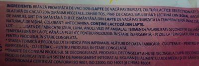 Mic-vis Brânzică glazurată cu aromă de vișină - Ingredients