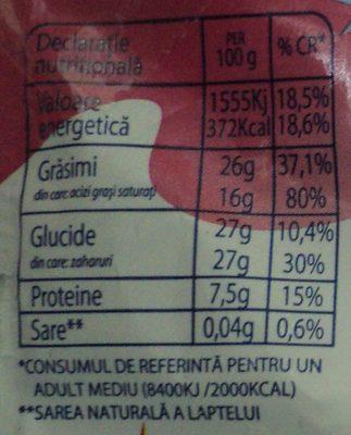 Mic-vis Brânzică glazurată cu aromă de vișină - Nutrition facts
