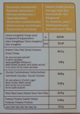 Feleacul Halva cu merisoare si cacao - Nutrition facts
