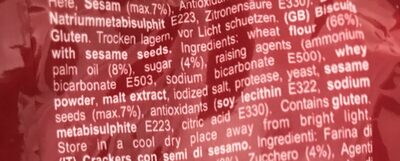 Crackers Croco W Sesame 150G 1 / 15 - Ingredientes - fr