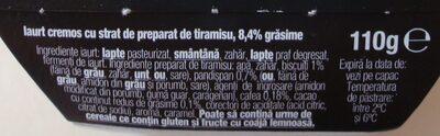 Danone Cremosso Tentatii Iaurt cremos cu gust de tiramisu - Ingredients