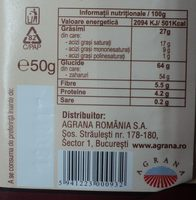 Romana Ciocolată de post - Informations nutritionnelles