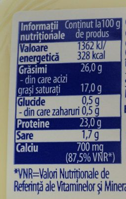 Hochland Cascaval clasic - Informations nutritionnelles - ro