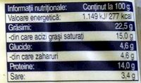Hochland Brânză topită cu cașcaval - Informations nutritionnelles - ro