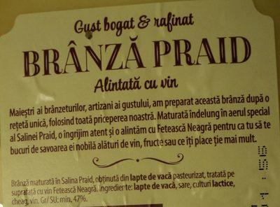 Hochland Brânză Praid alintată cu vin - Ingrédients - ro