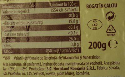 Hochland Brânză Praid alintată cu vin - Informations nutritionnelles - ro