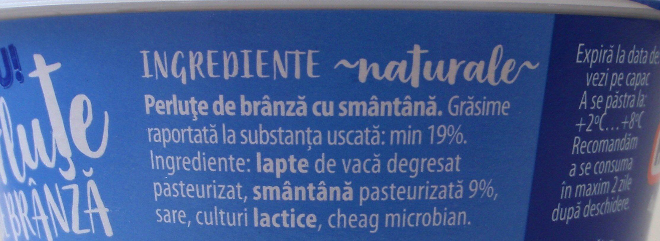 Hochland Perluțe de brânză cu smântână, 4% grăsime - Ingrédients - ro