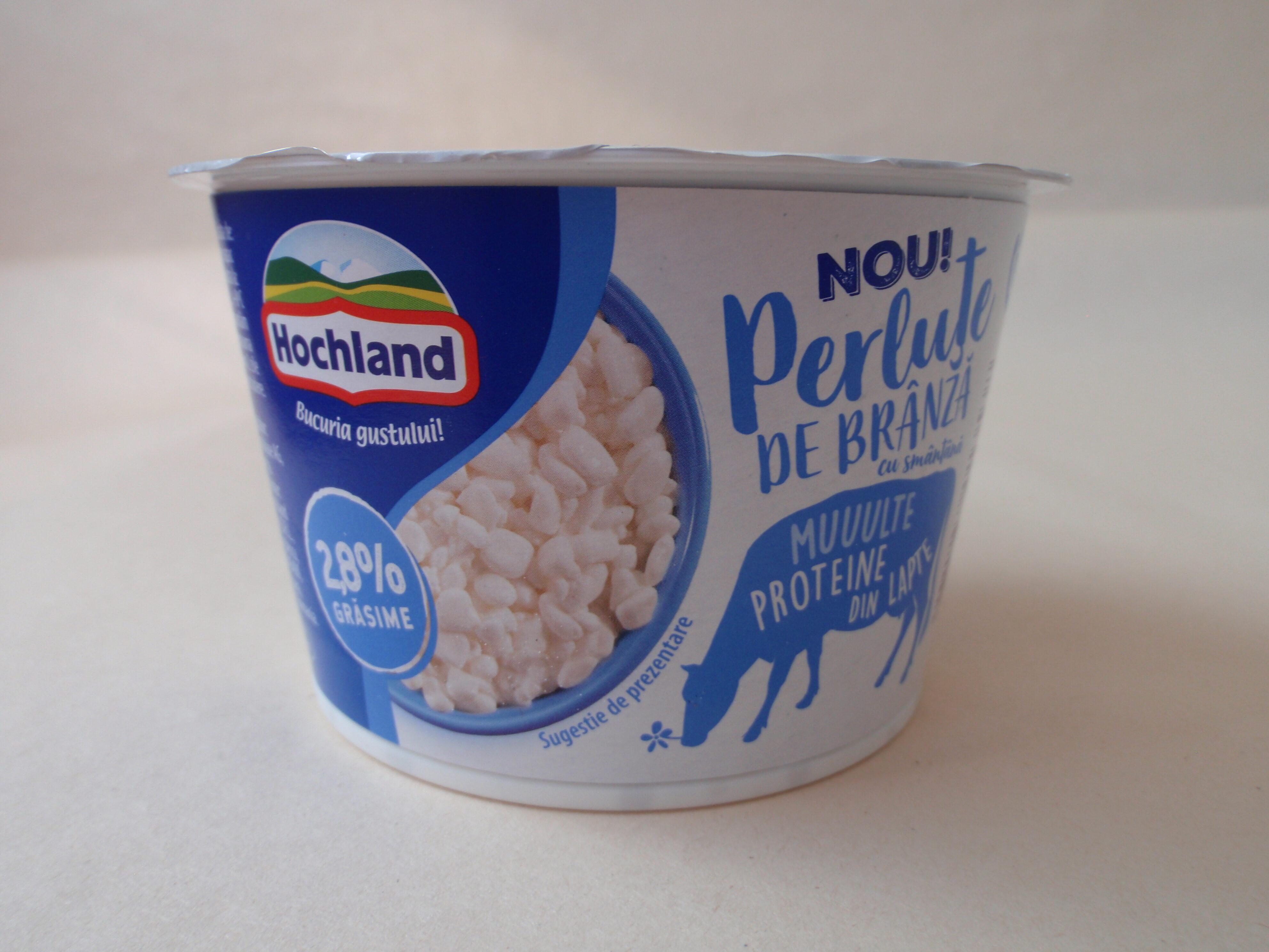 Hochland Perluțe de brânză cu smântână, 2,8% grăsime - Product - ro