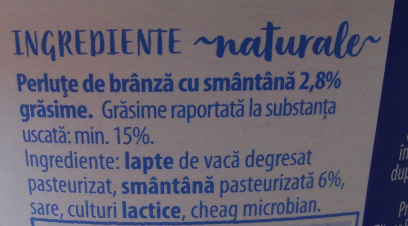 Hochland Perluțe de brânză cu smântână, 2,8% grăsime - Ingredients - ro