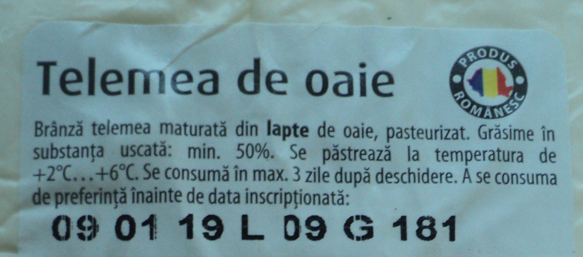 LaDorna Telemea de oaie - Ingrédients - ro