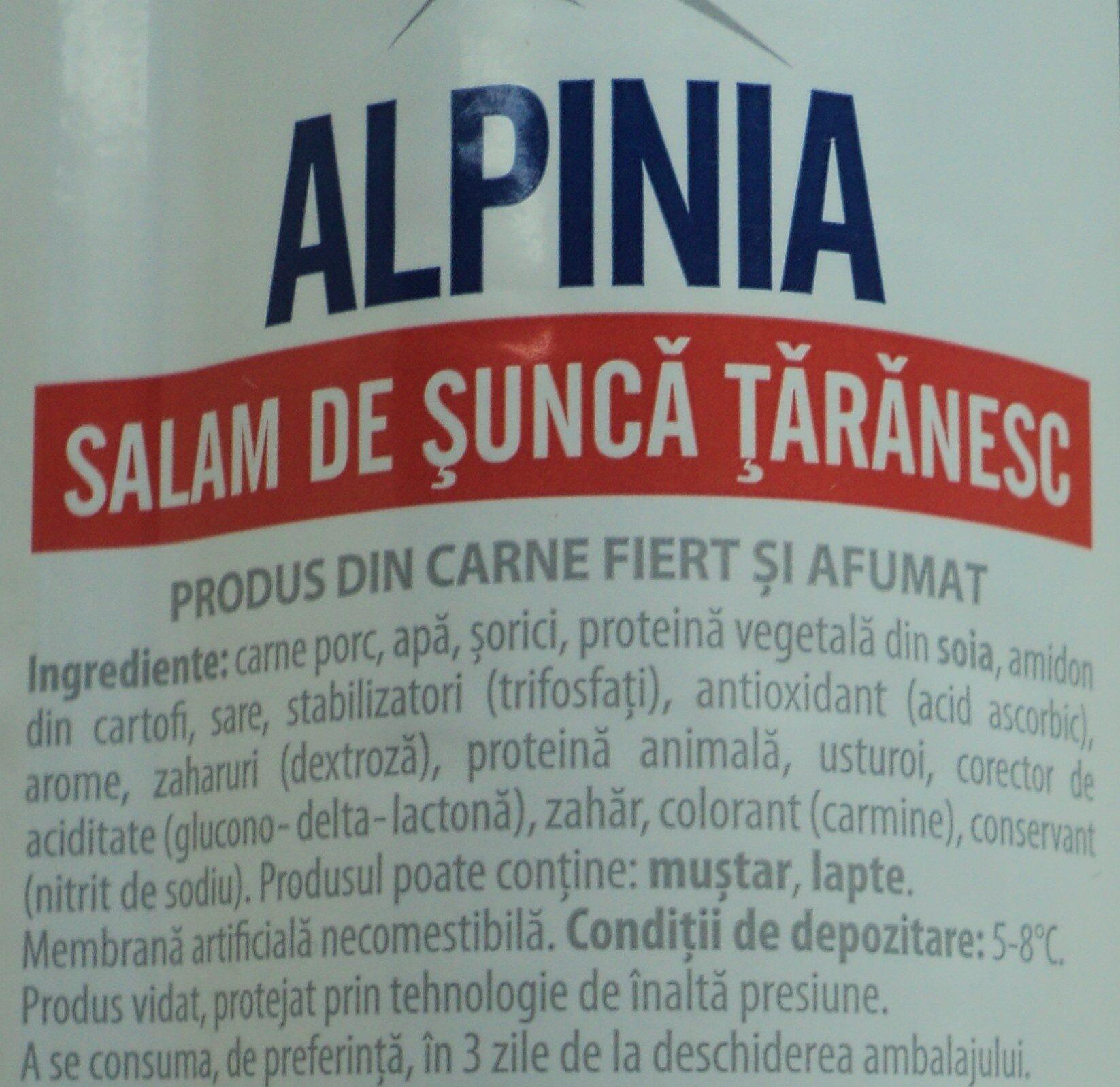 Alpinia Salam de șuncă țărănesc - Ingrédients - ro