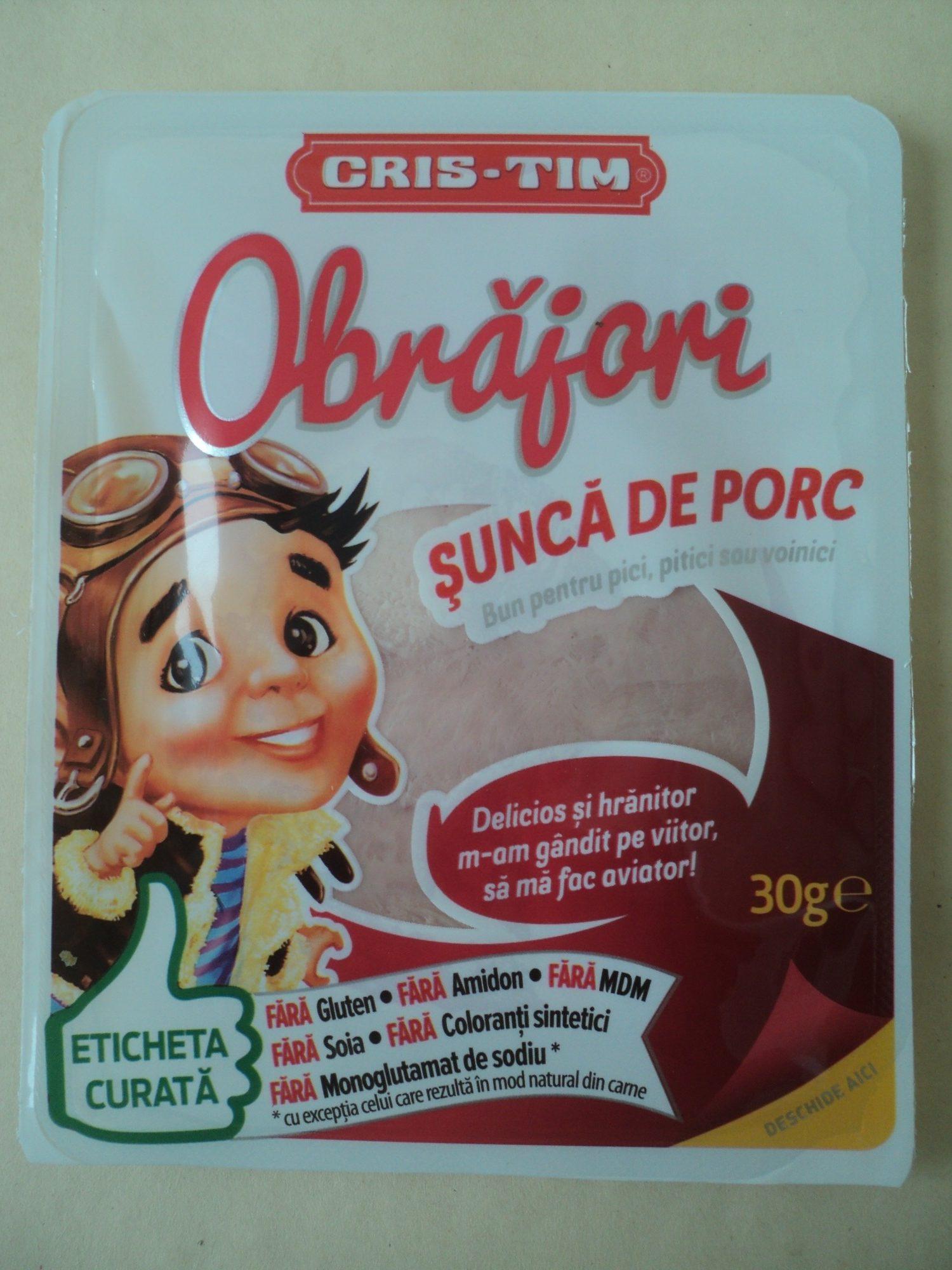 Obrăjori Șunca de porc - Product - ro