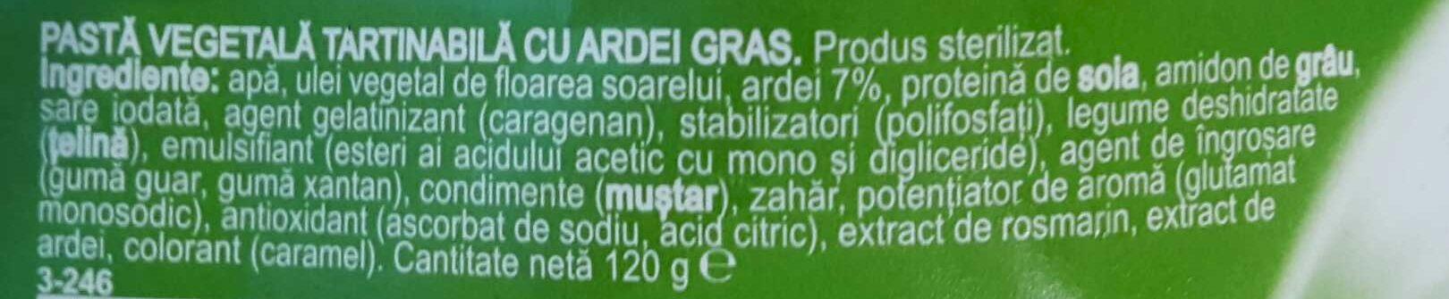 Mandy vegetal - Ingrediënten - ro