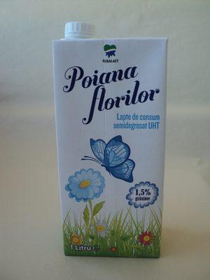 Poiana Florilor Lapte de consum semidegresat UHT 1,5% grăsime - Producte - ro
